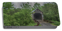 Portable Battery Charger featuring the photograph The Halpin Covered Bridge by Guy Whiteley