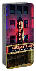 Portable Battery Charger featuring the photograph The Hanna Great Lakes Theater by Frozen in Time Fine Art Photography