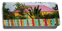 Portable Battery Charger featuring the photograph The Happy House, Island Of Curacao by Kurt Van Wagner