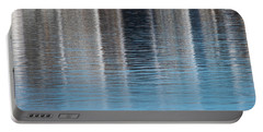 Portable Battery Charger featuring the photograph The Harbor Reflects by Karol Livote