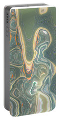Portable Battery Charger featuring the digital art The Harp Player by Lenore Senior