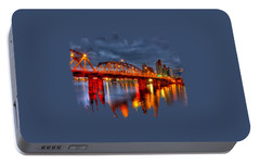 Portable Battery Charger featuring the photograph The Hawthorne Bridge - Pdx by Thom Zehrfeld