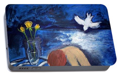 Portable Battery Charger featuring the painting The Healing by Winsome Gunning