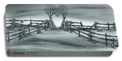 Portable Battery Charger featuring the painting The Heart Of Everything by Kenneth Clarke