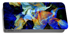Portable Battery Charger featuring the painting The Heart Of My Garden by Hanne Lore Koehler