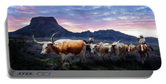 Texas Longhorns Blue Portable Battery Charger