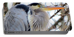 The Heron In Winter  Portable Battery Charger