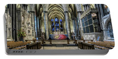 The High Altar In Salisbury Cathedral Portable Battery Charger