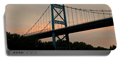 The High Level Aka Anthony Wayne Bridge I Portable Battery Charger by Michiale Schneider