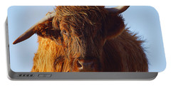 The Highland Cow Portable Battery Charger by Nichola Denny
