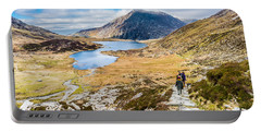 Portable Battery Charger featuring the photograph The Hike Back Down by Nick Bywater