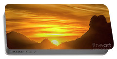 The Hills Of Arizona At Sunset Portable Battery Charger