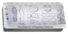 The History Of Baseball Patents Blueprint Portable Battery Charger by Jon Neidert