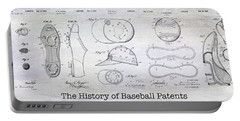 The History Of Baseball Patents Portable Battery Charger by Jon Neidert