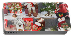 The Holiday Snowman Party Portable Battery Charger