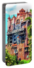 The Hollywood Tower Hotel Walt Disney World Pm Portable Battery Charger