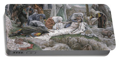 The Holy Virgin Receives The Body Of Jesus Portable Battery Charger