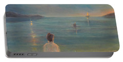 Portable Battery Charger featuring the painting The Homecoming by Donna Tucker