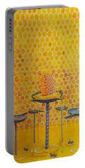 The Honey Of Lives Portable Battery Charger by Lazaro Hurtado