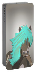 The Horse With The Turquoise Mane Portable Battery Charger