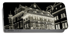Portable Battery Charger featuring the photograph The House At The Minute With Graffiti. Black by Jenny Rainbow