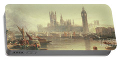 The Houses Of Parliament And Westminster Bridge Portable Battery Charger