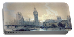 The Houses Of Parliament Portable Battery Charger by David Roberts