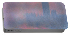 The Houses Of Parliament London Portable Battery Charger by Claude Monet