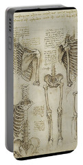 Portable Battery Charger featuring the painting The Human Ribcage by James Christopher Hill