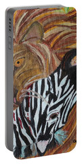 Portable Battery Charger featuring the painting The Hunter by Amy Gallagher