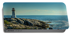 The Iconic Lighthouse At Peggys Cove Portable Battery Charger