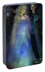 Portable Battery Charger featuring the digital art The Illusionist by Shadowlea Is