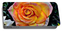 Portable Battery Charger featuring the mixed media The Imperfect Rose by Glenn McCarthy