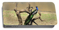 The Indian Peafowl Portable Battery Charger by Manjot Singh Sachdeva