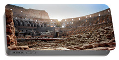 The Interior Of The Roman Coliseum Portable Battery Charger