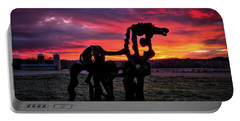 Portable Battery Charger featuring the photograph The Iron Horse Sun Up by Reid Callaway
