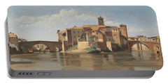 The Island And Bridge Of San Bartolomeo - Rome Portable Battery Charger