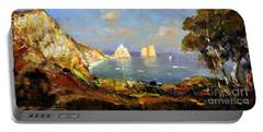 The Island Of Capri And The Faraglioni Portable Battery Charger