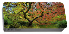 The Japanese Maple Tree In Spring Portable Battery Charger