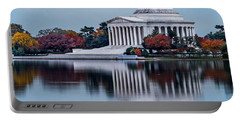 The Jefferson In Baby Blue Portable Battery Charger by Ed Clark