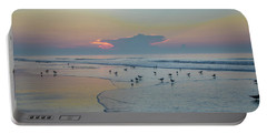 Portable Battery Charger featuring the photograph The Jersey Shore - Wildwood by Bill Cannon