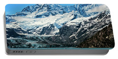 Portable Battery Charger featuring the photograph The John Hopkins Glacier by John Hight