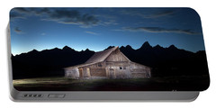 The John Moulton Barn On Mormon Row At The Base Of The Grand Tetons Wyoming Portable Battery Charger
