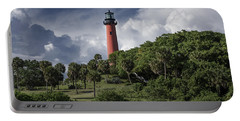 The Jupiter Inlet Lighthouse Portable Battery Charger by Laura Fasulo