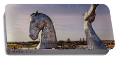 Portable Battery Charger featuring the photograph The Kelpies by RKAB Works