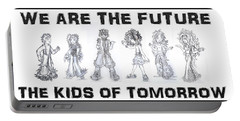 Portable Battery Charger featuring the drawing The Kids Of Tomorrow 1 by Shawn Dall