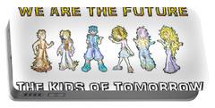 Portable Battery Charger featuring the digital art The Kids Of Tomorrow by Shawn Dall