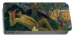 The Kings Wife Portable Battery Charger by Paul Gauguin