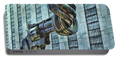 The Knotted Gun Portable Battery Charger by Allen Beatty