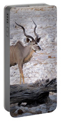 Portable Battery Charger featuring the digital art The Kudu In Namibia by Ernie Echols